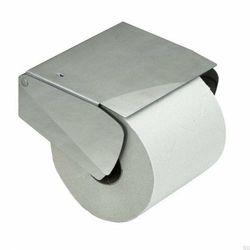 Solid Uchwyt Na Papier Toaletowy z pokrywką Srebrny szczotkowana (7316186200275)