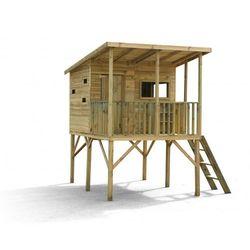 4iq Drewniany domek ogrodowy dla dzieci robinson