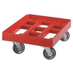 Unbekannt Wózek transportowy, dł. x szer. 610x410 mm, z hdpe, czerwone. nieduży ciężar wła