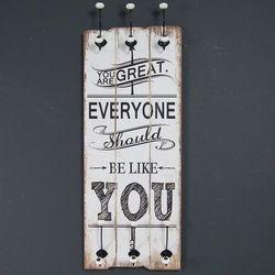 Wieszak, drewniana tablica dekoracyjna, styl rustykalny. marki Design by impresje24