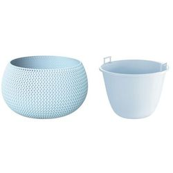 Doniczka splofy bowl dksp370 37 cm lodowy szary 656u marki Prosperplast