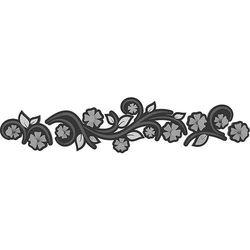 Wieszak ścienny Flowers CalleaDesign szary