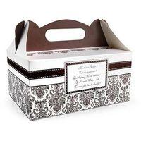 Ozdobne pudełko na ciasto weselne 1sztuka (5901157433145)