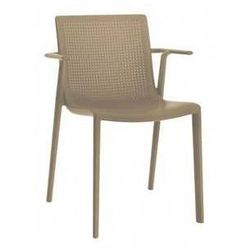 Krzesło ogrodowe z podłokietnikami do restauracji BeeKat Resol kawowe z kategorii Krzesła ogrodowe