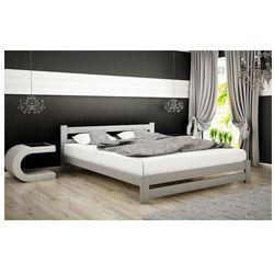 Łóżko drewniane Marsel 160x200 - popiel, Łóżko Zamtar 160x200 szare