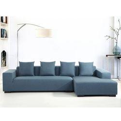 Beliani Sofa niebieska - sofa narożna l - tapicerowana - lungo (7081455252421)
