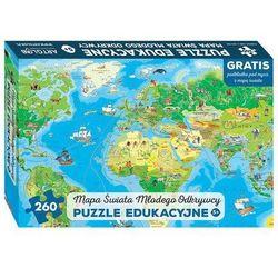 Mapa świata Młodego Odkrywcy Puzzle edukacyjne dla dzieci