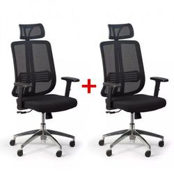 B2b partner Krzesło biurowe cross 1 + 1 gratis, czarny