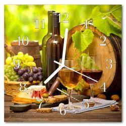 Tulup.pl Zegar szklany kwadratowy winogrona do wina