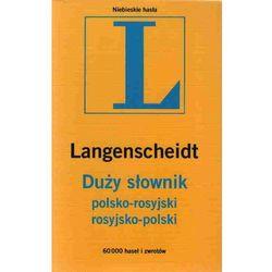 Duży słownik polsko rosyjski rosyjsko polski, pozycja wydana w roku: 2012