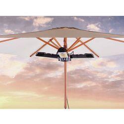 Elektryczny promiennik ogrodowy - trzyramienny grzejnik parasolowy - wiszący - stromboli, marki Beliani