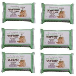 Zestaw 6xbezzapachowe organiczne chusteczki nawilżane, 72 szt.,  wyprodukowany przez Beaming baby