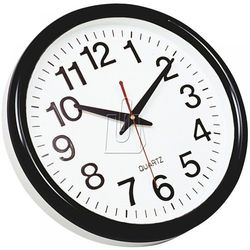 Zegar ścienny Q-Connect Tokyo czarny, 25749