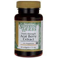 Swanson Acai Berry ekstrakt potrójna moc 75mg 60 kaps.
