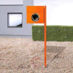 Stojąca skrzynka na listy letterman, pomarańczowa marki Absolut/ radius