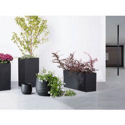 Doniczka czarna - ogrodowa - balkonowa - ozdobna - 21x21x22 cm - lomond od producenta Beliani