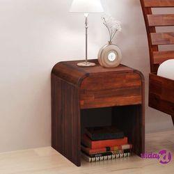vidaXL Stolik nocny z drewna akacjowego, 41,5 x 42 x 52 cm (8718475582649)
