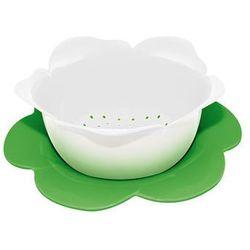 Durszlak z podstawką średni zak! biało-zielony od producenta Zak! designs