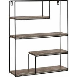 Stilista ® Metalowa półka regał prostokątny wiszący ścienny