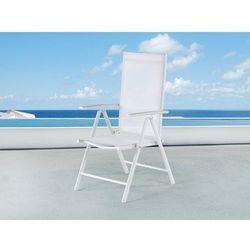 Krzesło ogrodowe białe - meble ogrodowe - aluminium - catania marki Beliani