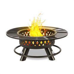 Blumfeldt Rosario Misa paleniskowa 3w1 Ø120cm grill 70 cm blat stołowy stal