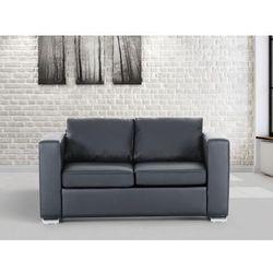 Skórzana sofa dwuosobowa czarna - kanapa - helsinki wyprodukowany przez Beliani