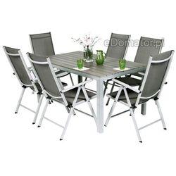 Zestaw ogrodowy aluminiowy MODENA 6+1 - Srebrny - Srebrny - z kategorii- pozostałe meble ogrodowe