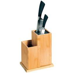 Kesper Stojak na noże kuchenne bambusowy, blok do noży, organizer do kuchni, akcesoria kuchenne, przybory do