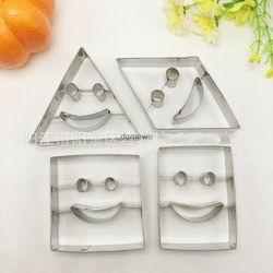 Metalowe foremki wykrawacze ciastek buźki 4 szt figury marki Chinatrade