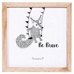 Obrazek w ramce lisek cyrkowiec na trapezie, Be Brave - Bloomingville, 50165194