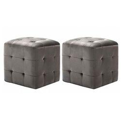 Komplet dwóch tapicerowanych puf do salonu - Zauri 4X, vidaxl_278385