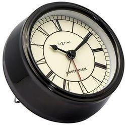 Nextime - zegar stojący small amsterdam - czarny