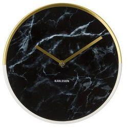 Karlsson:: Zegar ścienny Marble Delight czarny Ø30cm - czarny ||złoty