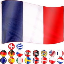 Flaga francji francuska 120x80 cm na maszt francja marki Flagmaster ®