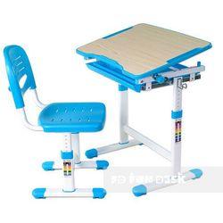 Piccolino blue - ergonomiczne, regulowane biurko dziecięce + krzesełko marki Fundesk