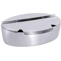 Cukiernica owalna 1 l ze stali nierdzewnej z pokrywką z dwoma wycięciami na łyżkę | , 2192/200 marki Contacto