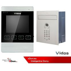 Vidos Zestaw jednorodzinny wideodomofonu . skrzynka na listy z wideodomofonem. monitor 4'' s561d-skp_m904s