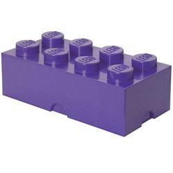 POJEMNIK LEGO 8 FIOLETOWY - LEGO POJEMNIKI
