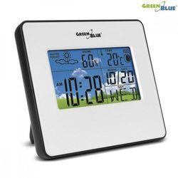 GreenBlue Stacja pogody zegar kalendarz fazy księżyca GB148 W white