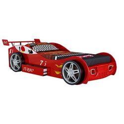 Łóżko w kształcie samochodu RUNNER z szufladą - 90 × 200 cm - Czerwony