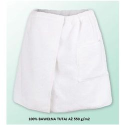 Sauna kilt ręcznik biały 100% bawełna męski 50*140 550 g/m2