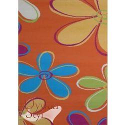 Dywan flash flowers pomarańczowy 077x150 prostokąt marki Dywanstyl.pl