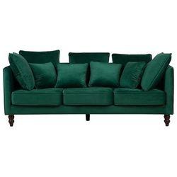 Sofa trzyosobowa tapicerowana zielona fenstad marki Beliani