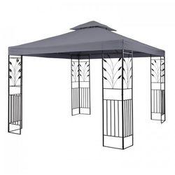 Blumfeldt odeon grey pavillon namiot imprezowy/namiot stały 3 x 3 m stal/poliester kolor ciemnoszary