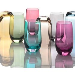 Leonardo Lo - szklanka 390 ml, żółta, colori