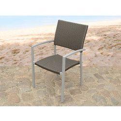 Meble ogrodowe brazowe - krzeslo ogrodowe - rattanowe - balkonowe - tarasowe - TORINO - produkt z kategorii- k