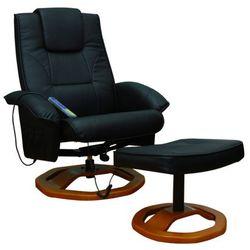 Vidaxl  fotel do masażu, resoga, z podnóżkiem, czarny