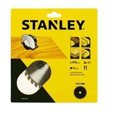Stanley tarcza pilarska 170x16 mm, 40 zębów (5035048367650)