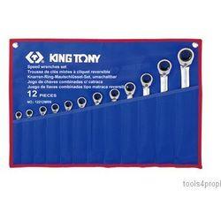 ZESTAW KLUCZY PŁASKO-OCZKOWYCH Z GRZECHOTKĄ DWUKIERUNKOWĄ 12cz. 8 - 24mm King Tony 12212MRN (4710591949065)