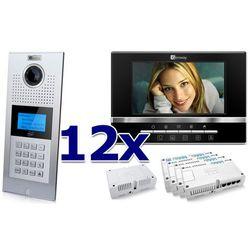 Zestaw wideodomofonowy 12 rodzinny Panel C5 C9E21L-C, 12x Monitor C5 V13, Akcesoria, ZW5965